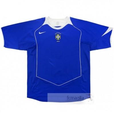Divise calcio Away Brasile Retro 2004 Blu