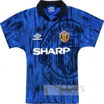 Divise calcio Away Manchester United Retro 92 93 Blu Navy