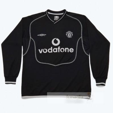 Divise calcio Away Manica Lunga Manchester United Retro 2000 2002