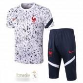 Divise Calcio Formazione Set Francia 2020 Bianco Blu