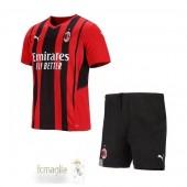 Divise Calcio Prima Set Bambino AC Milan 21 22