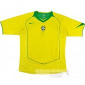 Divise calcio Prima Brasile Retro 2004 Giallo