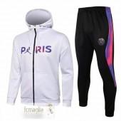 Felpe Giacche Paris Saint Germain 2021 2022 Bianco Porpora Nero