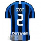 NO.2 Godin Divise Calcio Prima Inter Milan 19 20