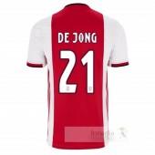 NO.21 De Jong Divise calcio Prima Ajax 2019 2020