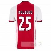 NO.25 Dolberg Divise calcio Prima Ajax 2019 2020