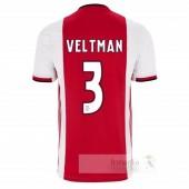 NO.3 Veltman Divise calcio Prima Ajax 2019 2020