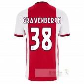 NO.38 Gravenberch Divise calcio Prima Ajax 2019 2020