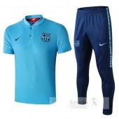 Nike Set Polo Barcellona 2019 2020 Blu