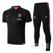 Nike Set Polo Paris Saint Germain 2018 2019 Nero