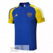 Polo Boca Juniors 2020 2021 Blu Giallo