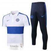 Polo Set Completo Chelsea 2020 2021 Bianco Blu