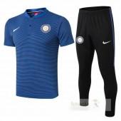 Set Polo Inter Milan 2018 2019 Blu