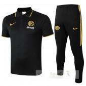 Set Polo Inter Milan 2019 2020 Nero