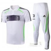 Set Polo Juventus 2019 2020 Bianco Grigio