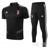 Set Polo Juventus 2019 2020 Nero Arancione