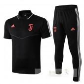 Set Polo Juventus 2019 2020 Nero Rosso