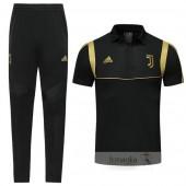 Set Polo Juventus 2019 2020 Nero