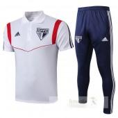 Set Polo São Paulo 2019 2020 Bianco Blu