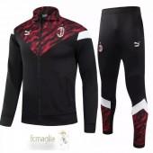 Tuta Calcio AC Milan 2021 2022 Nero Rosso