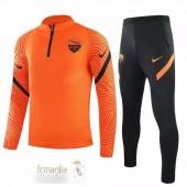 Tuta Calcio AS Roma 2020 2021 Arancione Nero
