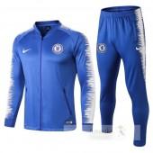 Tuta Calcio Bambino Chelsea 2018 2019 Bianco Blu