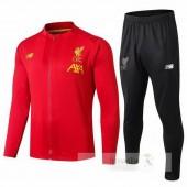 Tuta Calcio Bambino Liverpool 2019 2020 Nero Rosso