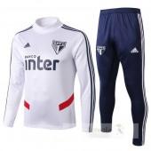 Tuta Calcio Bambino São Paulo 2019 2020 Bianco