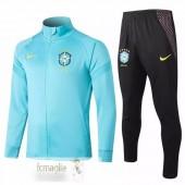 Tuta Calcio Brasil 2020 Blu Luce
