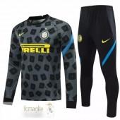 Tuta Calcio Inter Milan 2020 2021 Grigio Nero