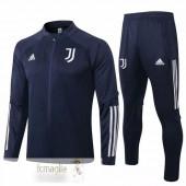 Tuta Calcio Juventus 2020 2021 Blu Navy Bianco