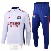 Tuta Calcio Lione 2021 2022 Bianco Blu