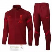 Tuta Calcio Liverpool 2020 2021 Borgogna