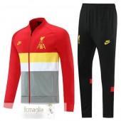 Tuta Calcio Liverpool 2021 2022 Rosso Giallo Grigio