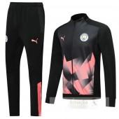Tuta Calcio Manchester City 2019 2020 Nero Rosa
