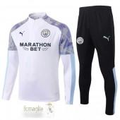 Tuta Calcio Manchester City 2020 2021 Bianco Porpora