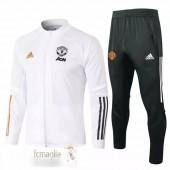 Tuta Calcio Manchester United 2020 2021 Bianco Nero Arancione