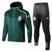 Tuta Calcio Messico 2018 Verde Bianco